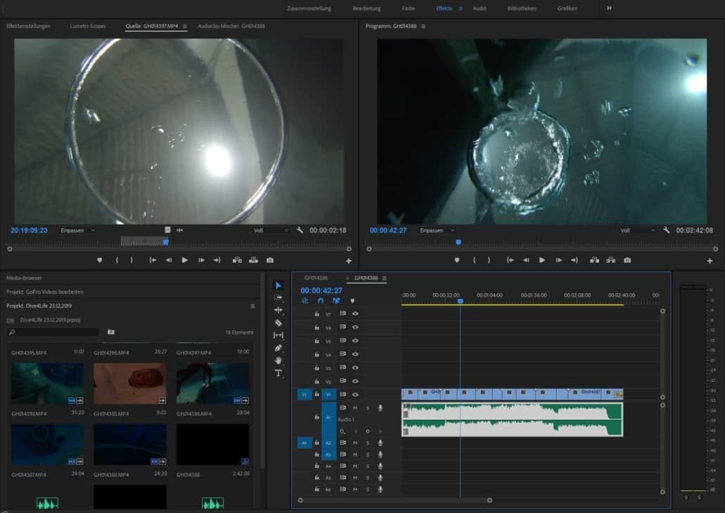GoPro Videos bearbeiten