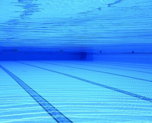 Schwimmbad Blackout
